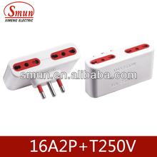 italia power adapter socket and plug 16A 250V 2P+T