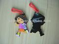 Enfants bande dessinée Dora avec sac PVC souple écologique silicone porte-clés magnet
