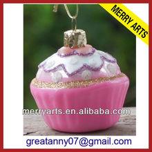 2014 yiwu feliz arts & crafts factory venda personalizado rosa bolo de natal toalha ornamentos em forma de