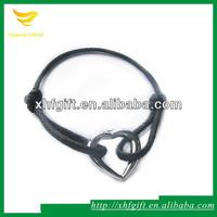 Custom black cotton waxed string for bracelet