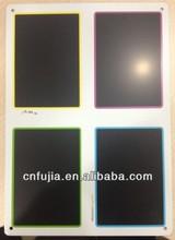 blank tin black board, writtable tin blackboard