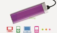 lipstick power bank 2600mah mini portable power bank for samsung galaxy s3