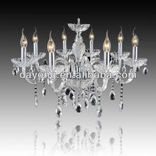 Colore argento dy2101-8 8 luci roccia vendita calda bella lampadario di cristallo