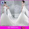 XL606 2014 latest design one shoulder beaded lace applique mermaid designer wedding dresses