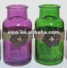 colored with coconut decoration glass mini vase