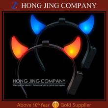 led flashing devil horn, led devil horns headband,led devil horn