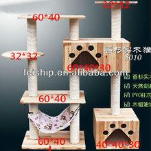 2014 new design wooden cat house