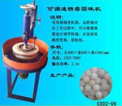 adjustable speed gem stone round beads grinding machine, stone round beads fine chamfering machine