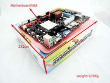 AMD CPU Based Motherboard, Support DDR2 or DDR3, AM2+ AM3 Socket Motherboard N68
