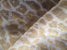 Silk lurex fabric with metallic