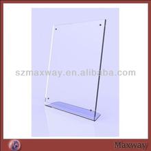 Plexiglass Message Holder,Plastic Unique Table Menu Card Holder,Acrylic Sign Holder,Acrylic Crystal Magnet Menu Stand Display