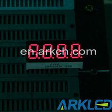 0.36 inch blue 7 segment digital clock led display