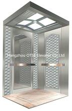 Hangzhou OTSE passenger elevator of hairline stainless steel cabin for 630kg 8 person
