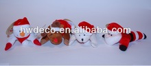 plush santa,snowman,reindeer and bear with magnet on feet&hands for christmas decoration