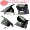 Fabricamos/personalizados preto fedora chapéu de feltro de escola dos miúdos doutor cap100% lã sentiu o desgaste para a escola/pós-graduação/escola cerimônia