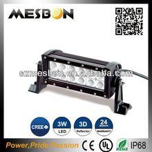 7.5inch 36W high lumen dual row led light bar 4wd spot light