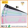 colored wireless keyboard, wireless rollable keyboard, silicone wireless keyboard