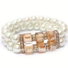 punk spike stretch bracelet CRYSTAL AND FACET GLASS TIP ADJUSTABLE WIRE BRACELET L1145RDCR-11689