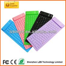 Multifunction Colorful Mini keyboard, colorful bluetooth Mini keyboard, wireless silicone keyboard