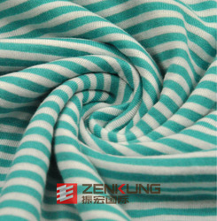 32s Rayon Striped Single Jersey fabric for children pajamas