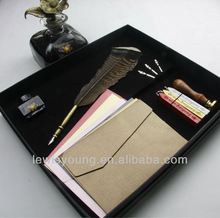 Sealing wax stamp with feather dip pen, 2014 promotional gift&souvenir