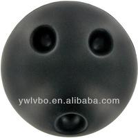 Customized Cheap pu ball black bowling stress reliever anti stress ball ball