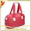Korean Red Pu Leather Duffel Bag For Ladies