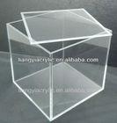 multi function clear fashion custom wholesale acrylic cube storage boxes
