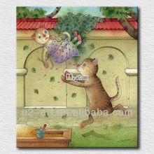 Canvas prints wholesale happy cartoon picture cat
