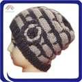 акриловые ручного вязания крючком шапочки шляпу для леди с цветком