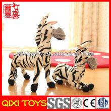 Novetly and lovely zebra plush stuffed animals toy