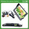 2.4g sem fio do carro câmera de visão traseira kits com 4.3 polegadas monitor mini-espião câmera sem fio