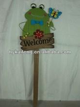 wooden spring garden stick