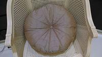 Embroidery round cushion satin