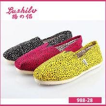 luzhilv 2014 más reciente de leopardo de impresión de lona zapatos del fabricante