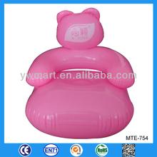 Pink cute modern PVC children inflatable sofa chair
