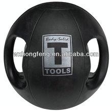 double handle rubber medicine ball
