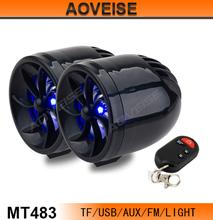 USB motorcycle speaker Waterproof MP3 player MT483 [AOVEISE]
