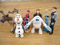 Fashion plastic pvc Forzen dolls decorate,7 designs in one set,Elsa/Anna/Kristoff/Olaf