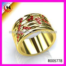 alibaba sito web più venduto Vogue 24 carati anelloin oro