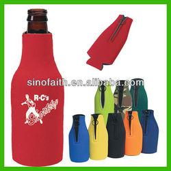 enviromental protection neoprene wine bottle cooler tote bag