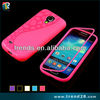 s shape full view TPU cover for samsung galaxy s4 mini