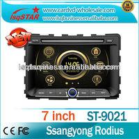 LSQ Star auto multimedia gps navigation For Ssangyong Rodius With Autoradio Gps Navi+Virtual 6cd+Bt Phonebook+3g+full Function