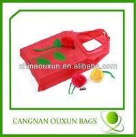 hottest eco-friendly nylon rose folding shopping bag