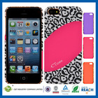 C&T Plastic leopard wholesale for iphone 5s custom back covers case