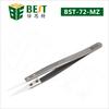 BEST-72-MZ Heat Resistant Stainless Steel Tweezers with Ceramic Tip