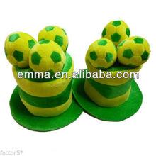 2014 Brazil World Cup Funny Football Fan Velvet Soft Top Hat H180