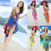 New Deep V Wrap Chiffon Swimwear Bikini Cover Up Sarong Beach Dress SV001144