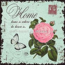 2014 Handmade pink rose flower canvas painting