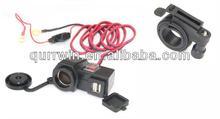 12V Motorcycle Cigarette Lighter Power USB Port Integration Outlet Socket